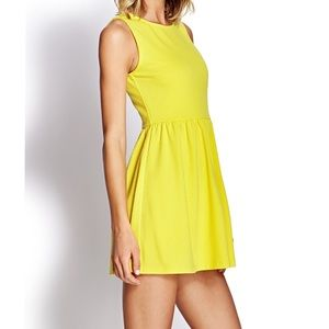 Forever 21 Floral Yellow Embroidered Sundress